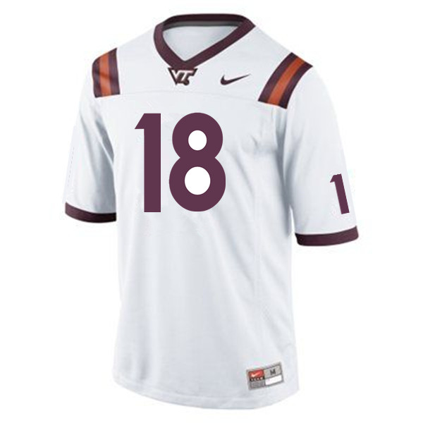 Men #18 Chase Mummau Virginia Tech Hokies College Football Jerseys Sale-Maroon