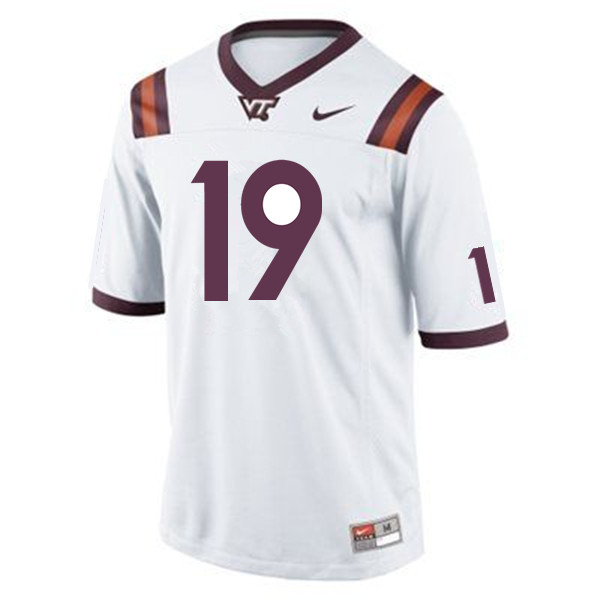 Men #19 Chuck Clark Virginia Tech Hokies College Football Jerseys Sale-Maroon