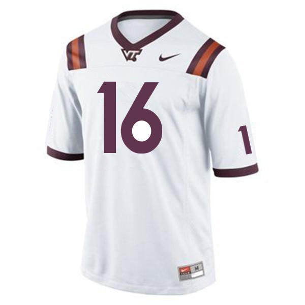Men #16 Coleman Fox Virginia Tech Hokies College Football Jerseys Sale-Maroon