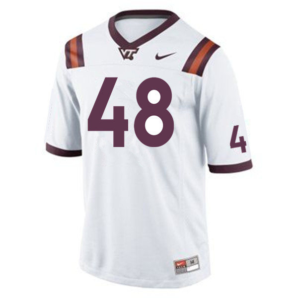 Men #48 D.J. Reid Virginia Tech Hokies College Football Jerseys Sale-Maroon
