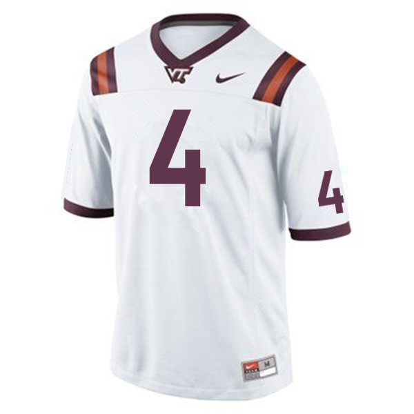 Men #4 Dax Hollifield Virginia Tech Hokies College Football Jerseys Sale-Maroon