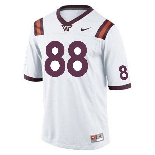 Men #88 Elijah Bowick Virginia Tech Hokies College Football Jerseys Sale-White