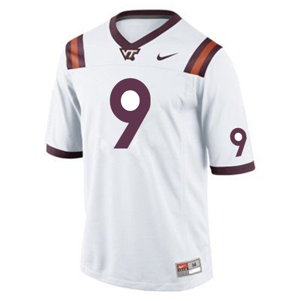 Men #9 Khalil Ladler Virginia Tech Hokies College Football Jerseys Sale-Maroon