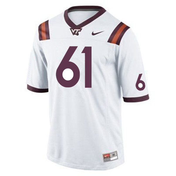 Men #61 Kyle Chung Virginia Tech Hokies College Football Jerseys Sale-Maroon