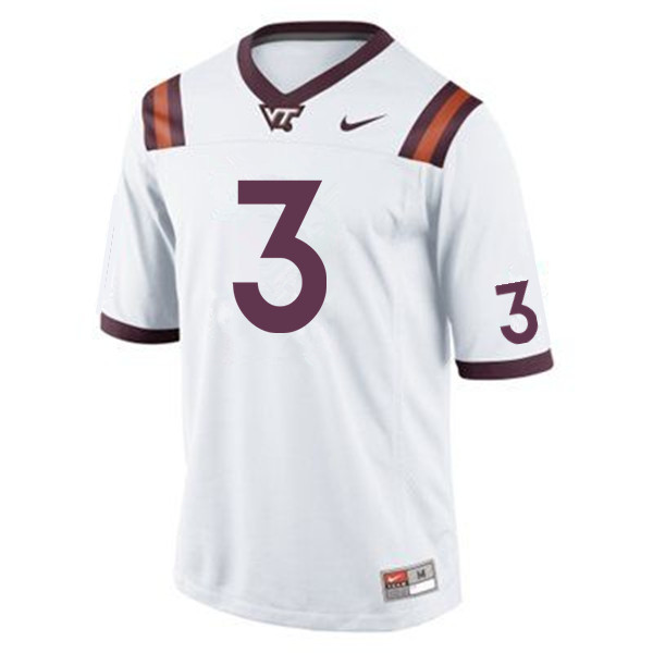 Men #3 Logan Thomas Virginia Tech Hokies College Football Jerseys Sale-Maroon