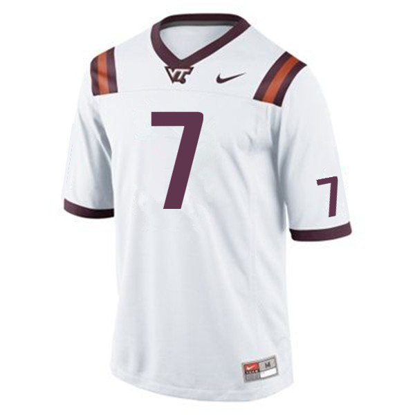 Men #7 Michael Vick Virginia Tech Hokies College Football Jerseys Sale-Maroon