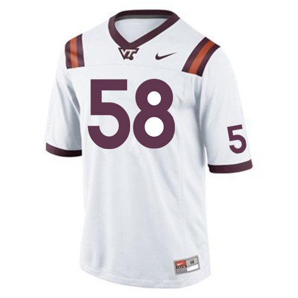 Men #58 Nathan Proctor Virginia Tech Hokies College Football Jerseys Sale-Maroon
