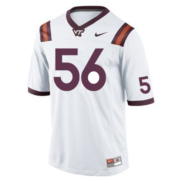 Men #56 Sean Huelskamp Virginia Tech Hokies College Football Jerseys Sale-Maroon
