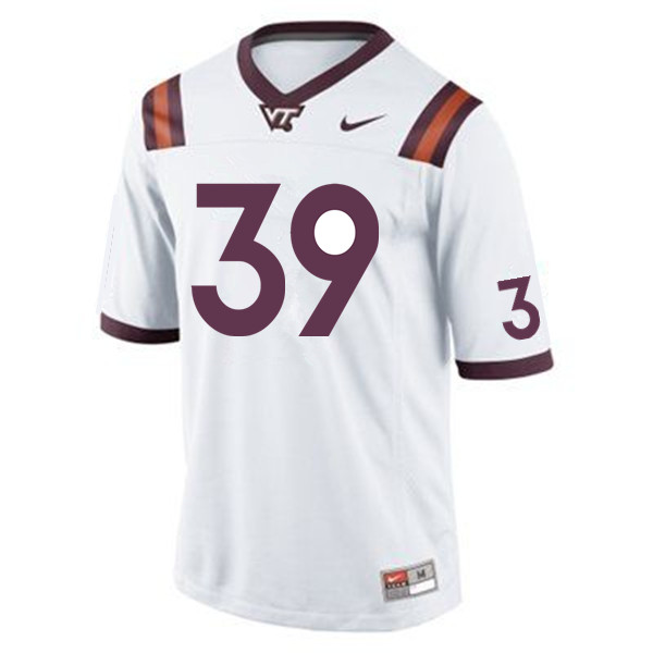 Men #39 Tyrone Thornton Virginia Tech Hokies College Football Jerseys Sale-Maroon