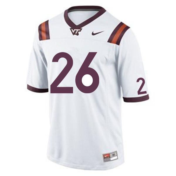 Men #26 Khalil Herbert Virginia Tech Hokies College Football Jerseys Sale-White