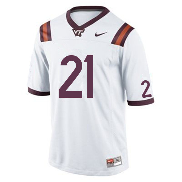 Men #21 Raheem Blackshear Virginia Tech Hokies College Football Jerseys Sale-White