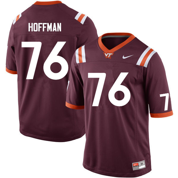 Men #76 Brock Hoffman Virginia Tech Hokies College Football Jerseys Sale-Maroon