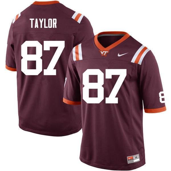 Men #87 Colton Taylor Virginia Tech Hokies College Football Jerseys Sale-Maroon