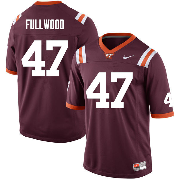 Men #47 Darius Fullwood Virginia Tech Hokies College Football Jerseys Sale-Maroon