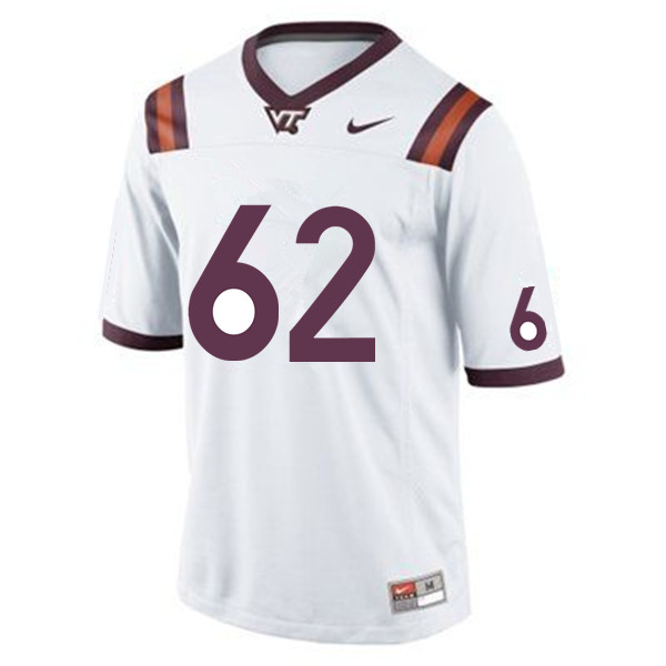 Men #62 Gabe Sesco Virginia Tech Hokies College Football Jerseys Sale-White
