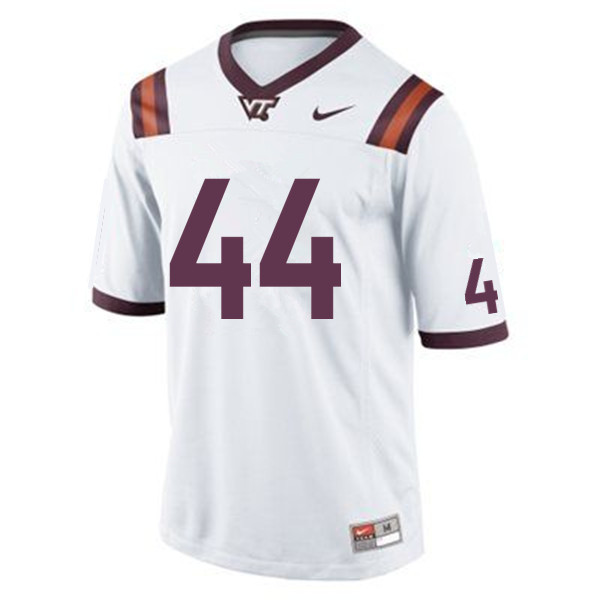 Men #44 J'Wan Evans Virginia Tech Hokies College Football Jerseys Sale-White