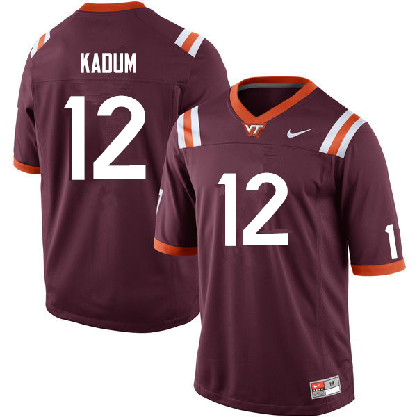 Men #12 Knox Kadum Virginia Tech Hokies College Football Jerseys Sale-Maroon