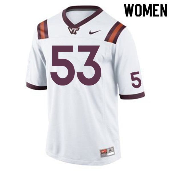 Women #53 Aiden Brown Virginia Tech Hokies College Football Jerseys Sale-Maroon