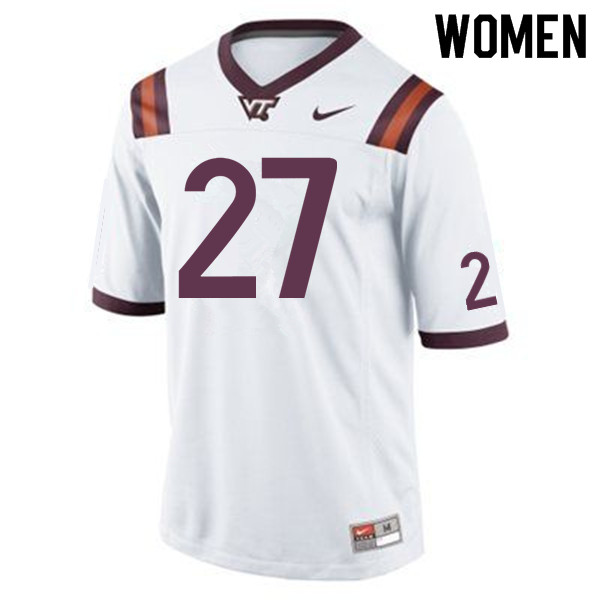 Women #27 Armani Chatman Virginia Tech Hokies College Football Jerseys Sale-Maroon