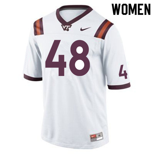 Women #48 D.J. Reid Virginia Tech Hokies College Football Jerseys Sale-Maroon
