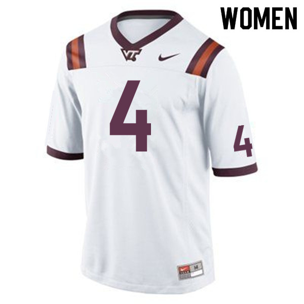 Women #4 Dax Hollifield Virginia Tech Hokies College Football Jerseys Sale-Maroon