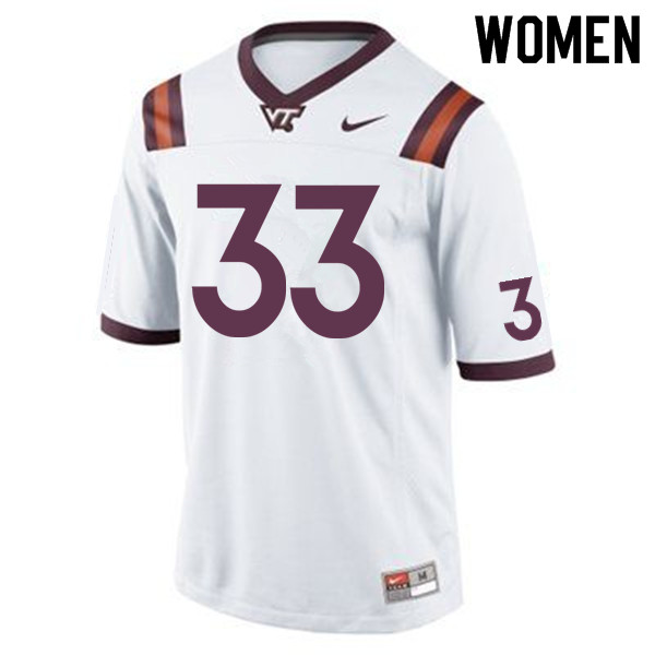 Women #33 Deshawn McClease Virginia Tech Hokies College Football Jerseys Sale-Maroon