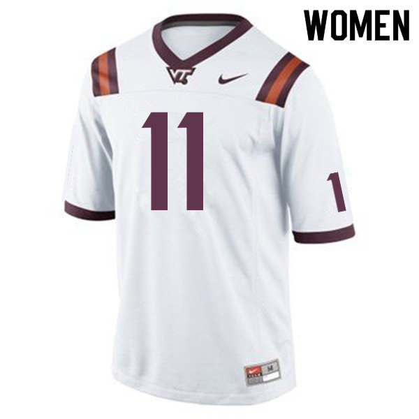Women #11 Kendall Fuller Virginia Tech Hokies College Football Jerseys Sale-Maroon