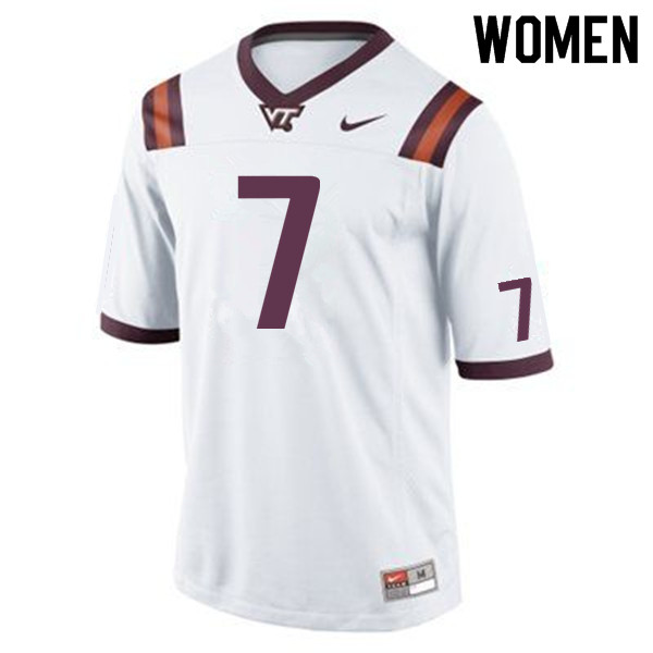 Women #7 Michael Vick Virginia Tech Hokies College Football Jerseys Sale-Maroon