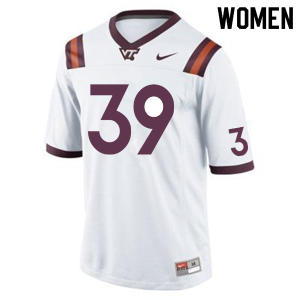 Women #39 Sean Daniel Virginia Tech Hokies College Football Jerseys Sale-Maroon
