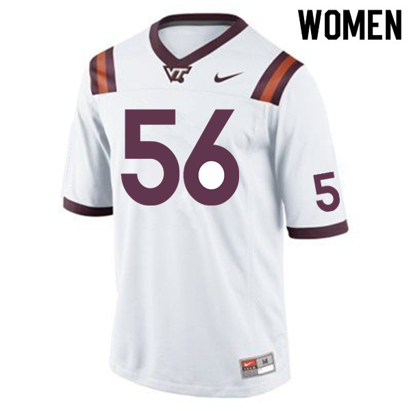Women #56 Sean Huelskamp Virginia Tech Hokies College Football Jerseys Sale-Maroon