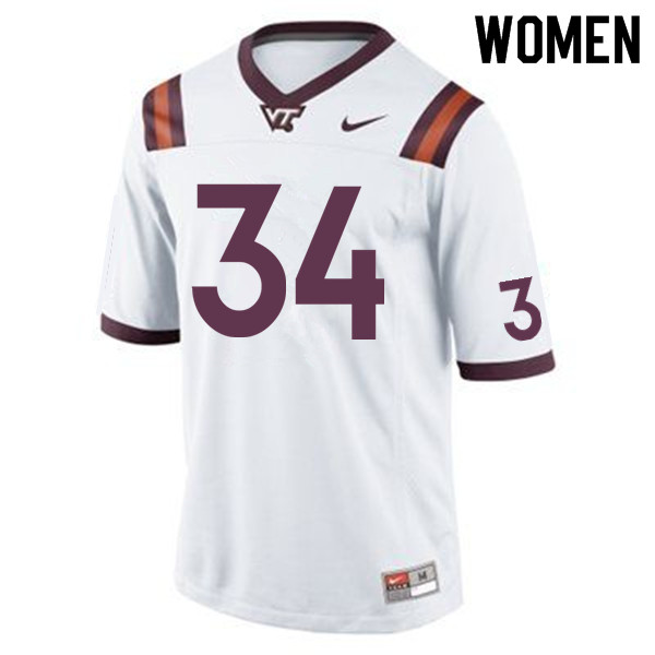 Women #34 Travon McMillian Virginia Tech Hokies College Football Jerseys Sale-Maroon