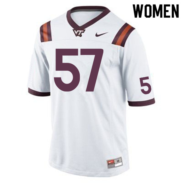 Women #57 Wyatt Teller Virginia Tech Hokies College Football Jerseys Sale-Maroon