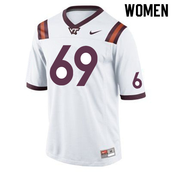 Women #69 Yosuah Nijman Virginia Tech Hokies College Football Jerseys Sale-Maroon