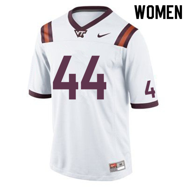 Women #44 J'Wan Evans Virginia Tech Hokies College Football Jerseys Sale-White