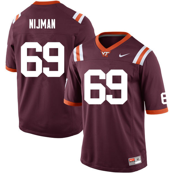 Men #69 Yosuah Nijman Virginia Tech Hokies College Football Jerseys Sale-Maroon