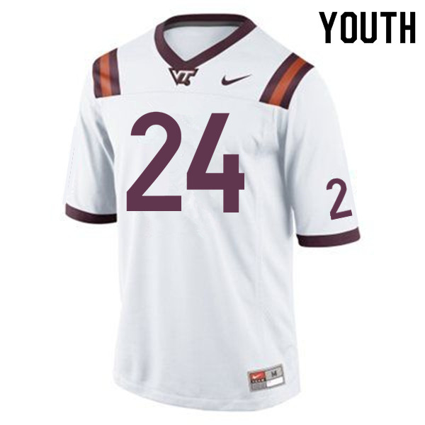 Youth #24 Anthony Shegog Virginia Tech Hokies College Football Jerseys Sale-Maroon