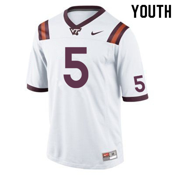 Youth #5 Cam Phillips Virginia Tech Hokies College Football Jerseys Sale-Maroon