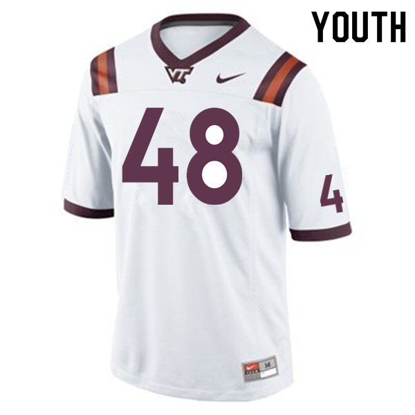 Youth #48 D.J. Reid Virginia Tech Hokies College Football Jerseys Sale-Maroon