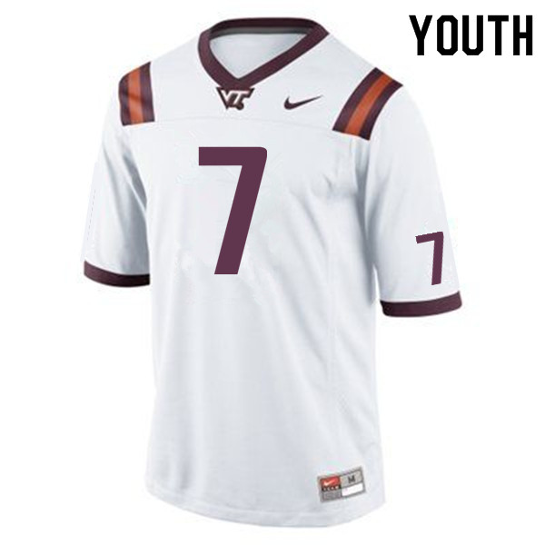 Youth #7 Devon Hunter Virginia Tech Hokies College Football Jerseys Sale-Maroon