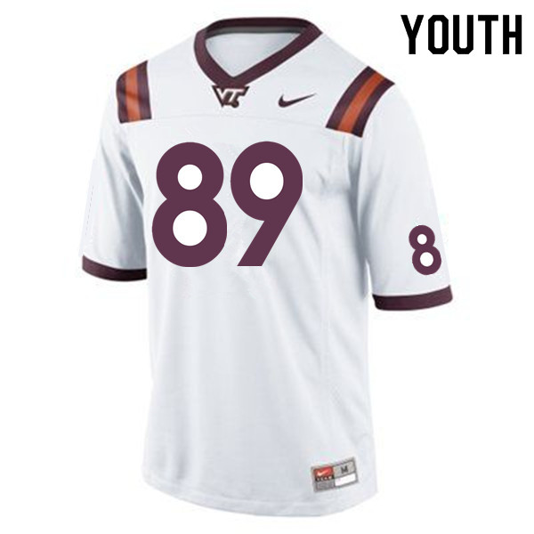 Youth #89 Drake DeIuliis Virginia Tech Hokies College Football Jerseys Sale-Maroon