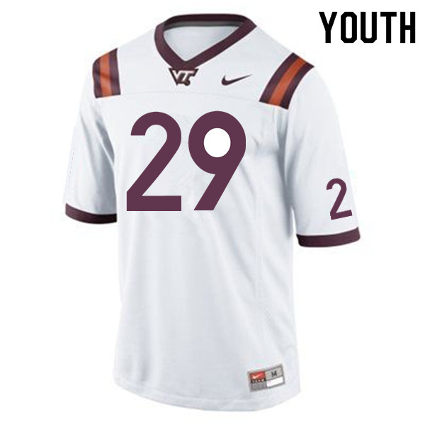 Youth #29 Ishmiel Seisay Virginia Tech Hokies College Football Jerseys Sale-Maroon