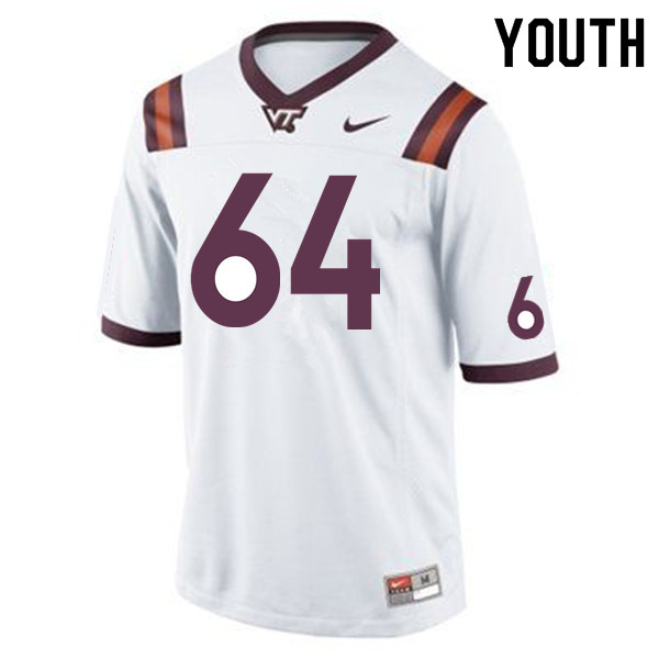 Youth #64 Jake Grove Virginia Tech Hokies College Football Jerseys Sale-Maroon