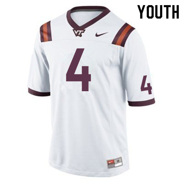 Youth #4 Quincy Patterson II Virginia Tech Hokies College Football Jerseys Sale-Maroon