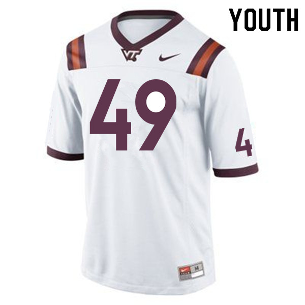 Youth #49 Tremaine Edmunds Virginia Tech Hokies College Football Jerseys Sale-Maroon