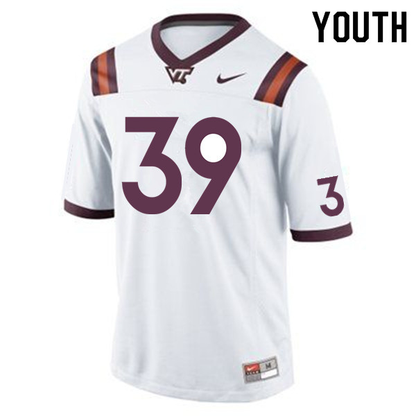 Youth #39 Tyrone Thornton Virginia Tech Hokies College Football Jerseys Sale-Maroon